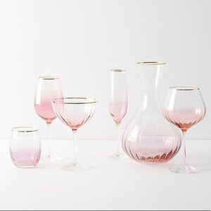 Ombre Decanter and 2 Wine Glasses by Anthropologie